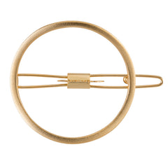 Large O Barrette Gold Matte
