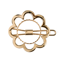 Flower Power Barrette Gold Luminous
