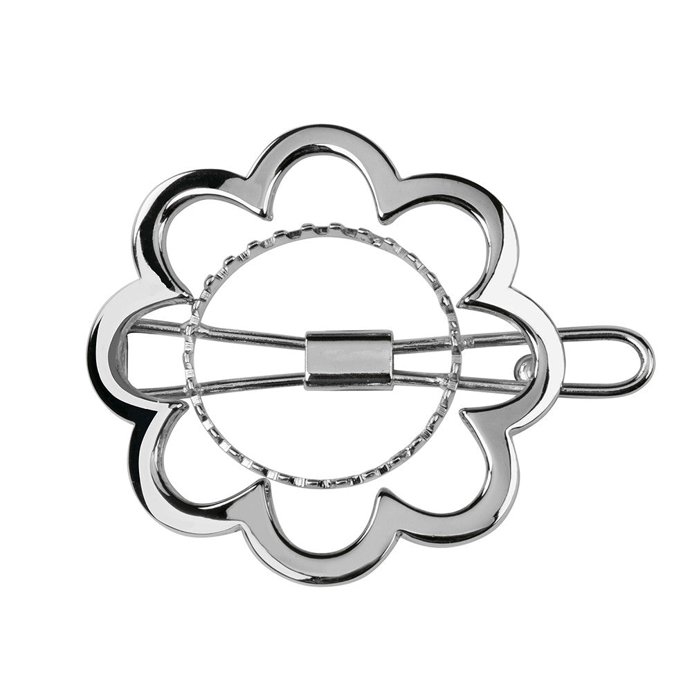 Flower Power Barrette Silver Luminous