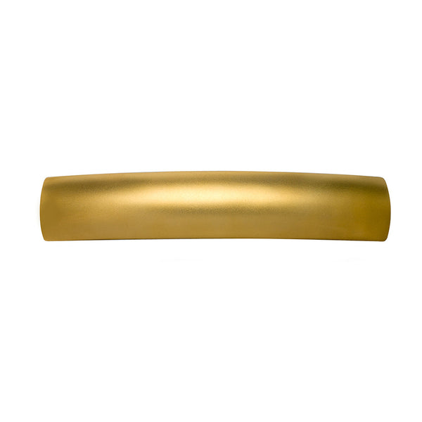 French Rectangle Long Barrette Gold Matte