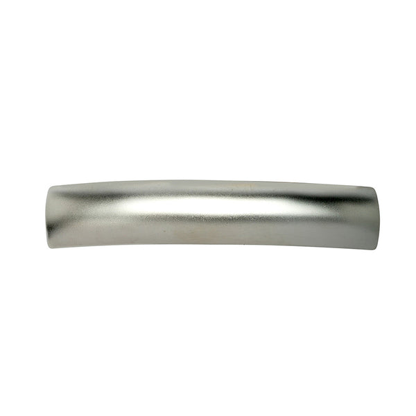 French Rectangle Long Barrette Silver Matte