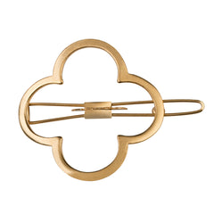 Lucky Charmed Barrette Gold Matte
