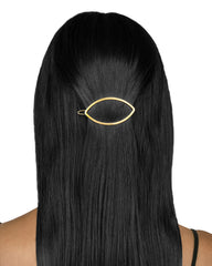 Eye Opener Barrette Gold Matte