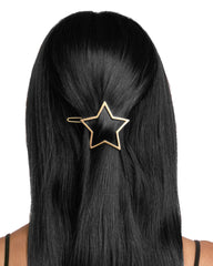 Golden Star Barrette Gold Matte
