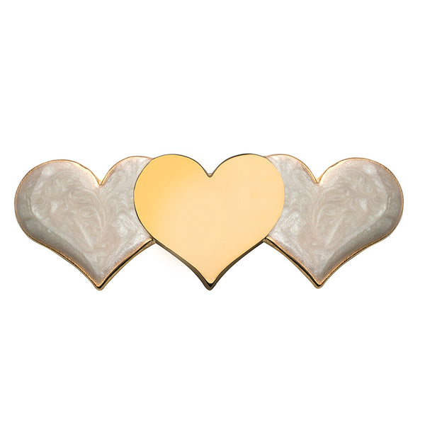 Hearts Barrette Gold and Mother Pearl