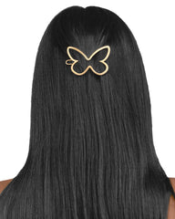 Butterfly Barrette Gold Matte