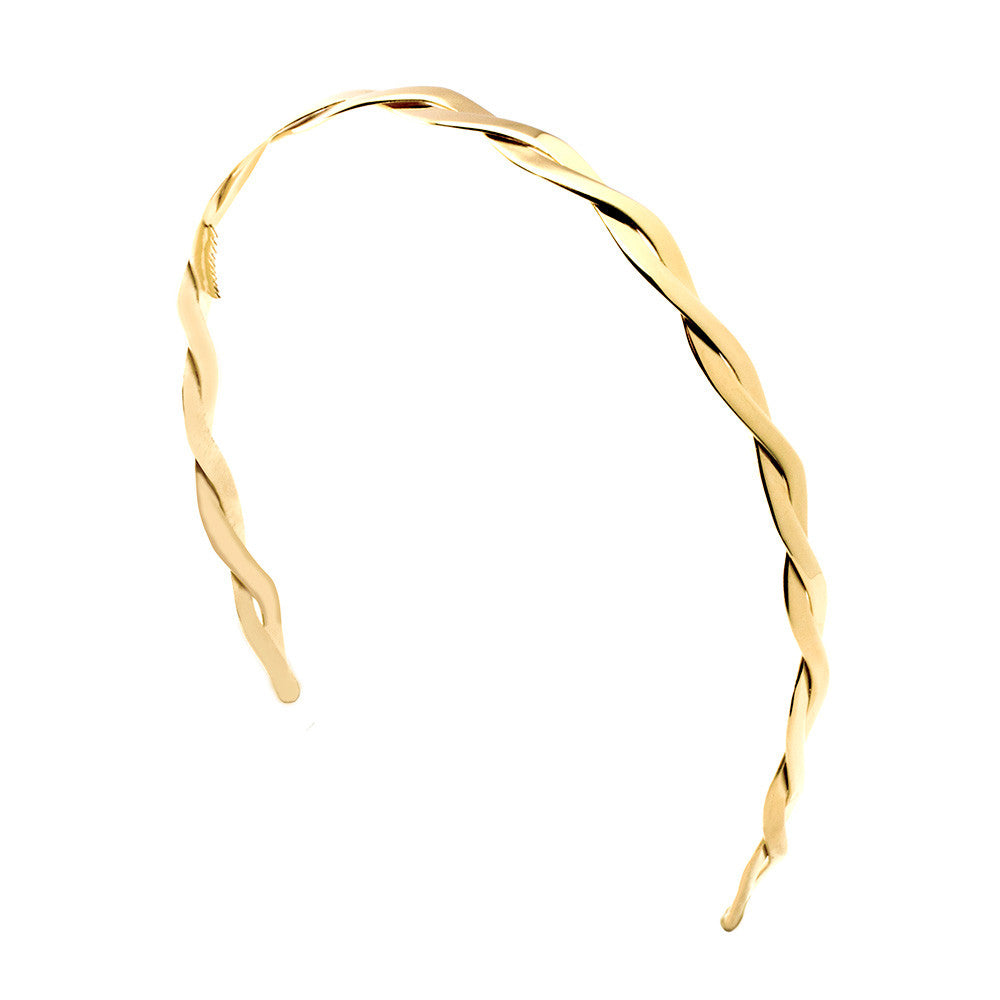 Interwoven Headband 2 Tone Gold