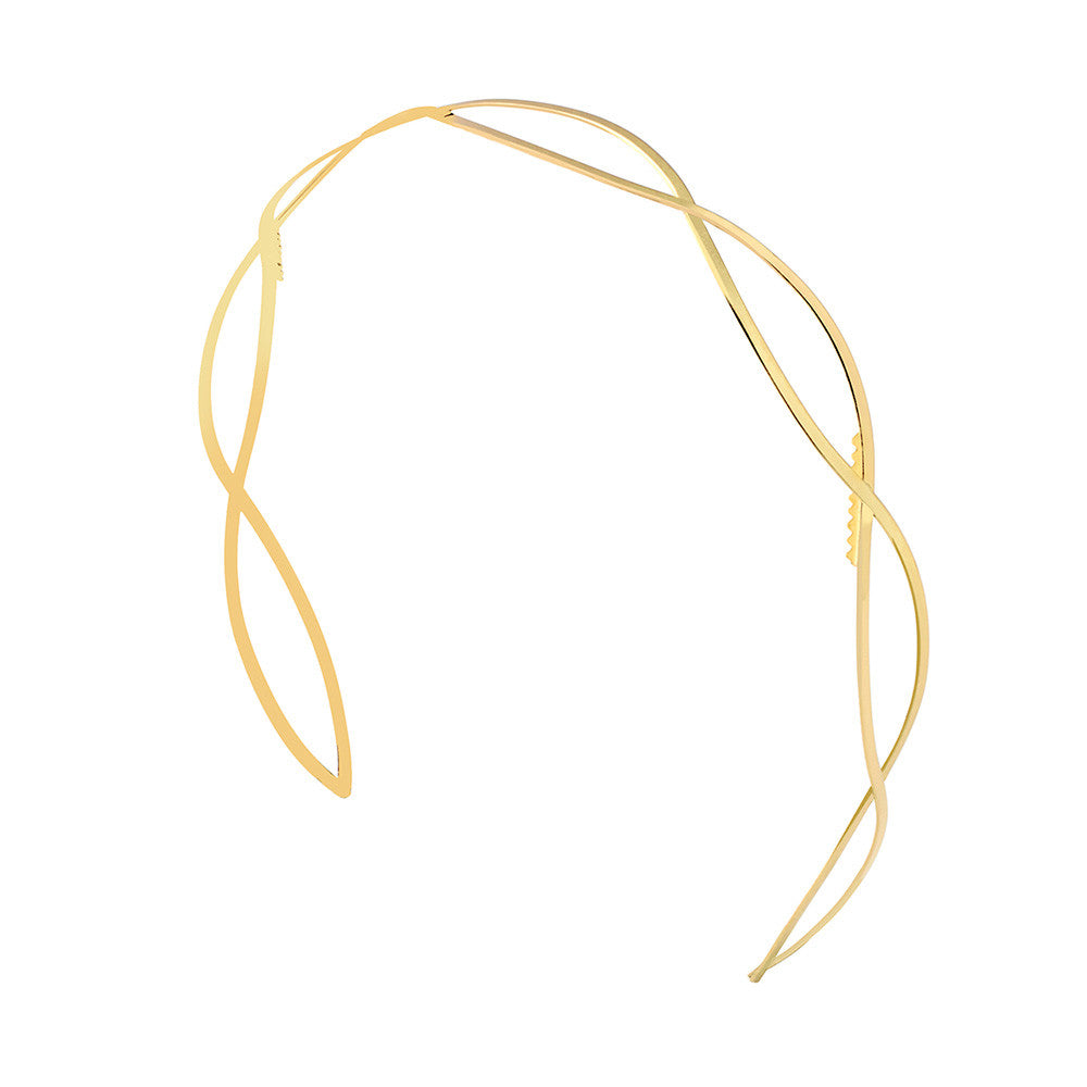 Easy Chic Headband 2 Tone Gold