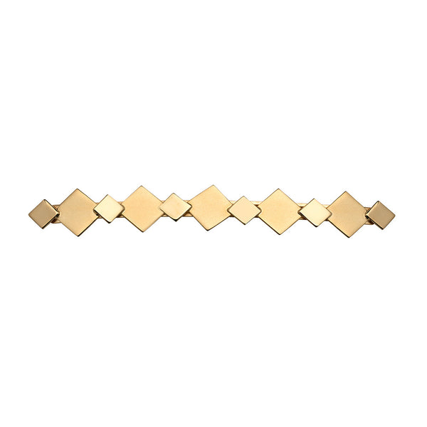 Top Tier Barrette 2 Tone Gold