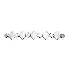 Top Tier Barrette 2 Tone Silver