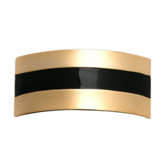 Maxi Striped Pony Holder Gold/Black