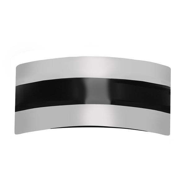 Maxi Striped Pony Holder Silver/Black