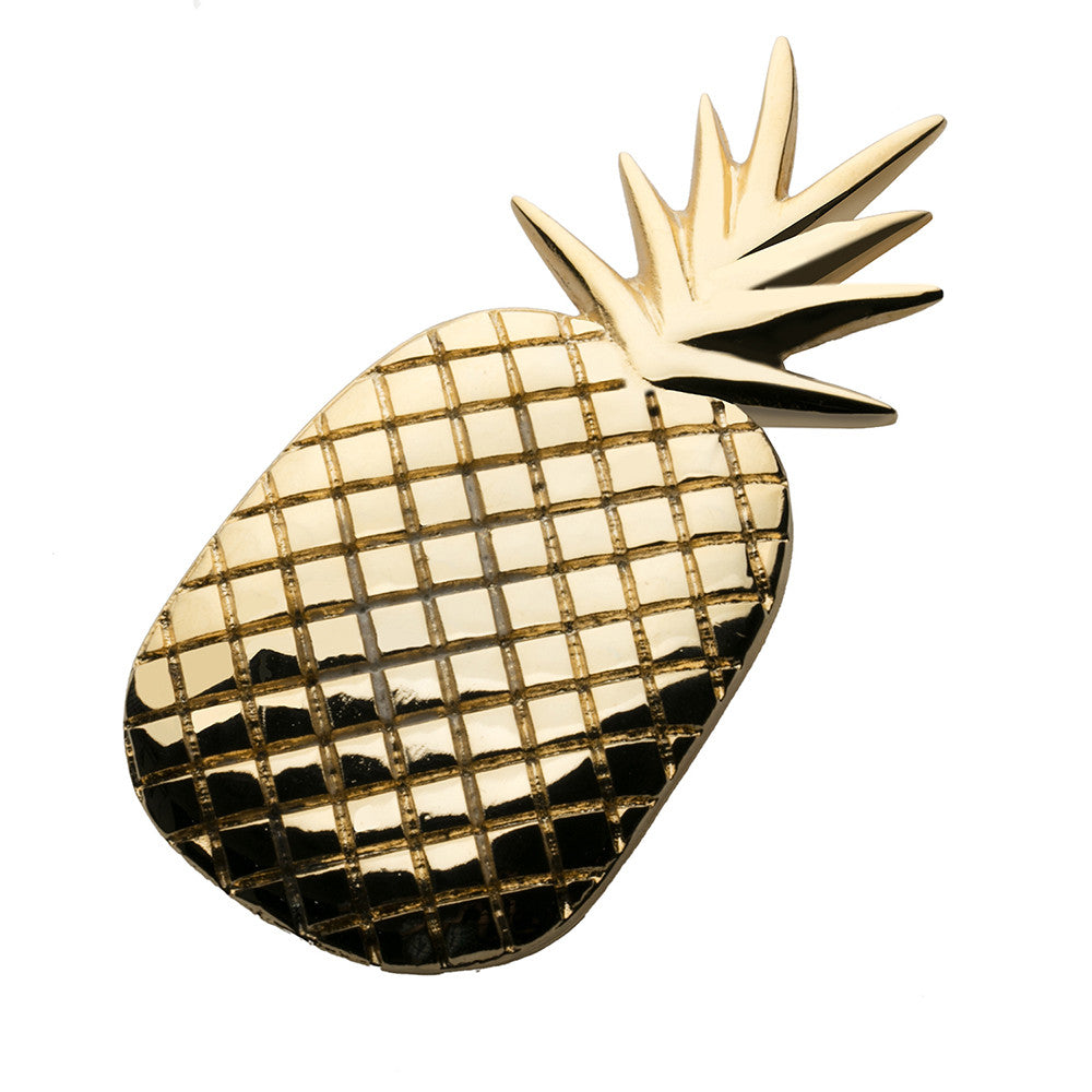 Pineapple Barrette Gold