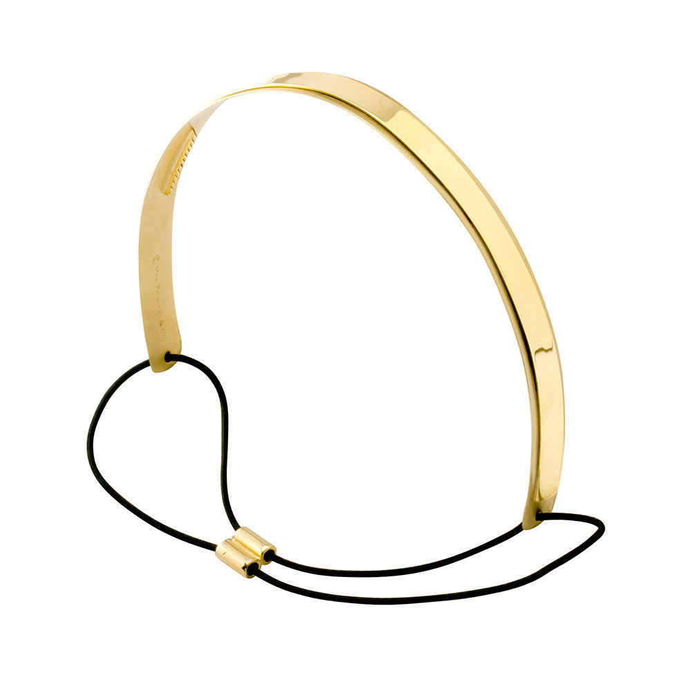 Sporty Lux Headband 2 Tone Gold