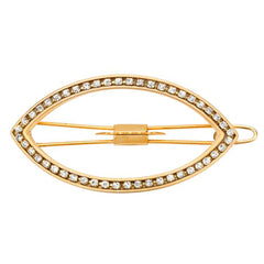 Eye Opener Barrette Gold with Crystals