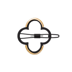Lucky Charmed Barrette in Gold and Black: New!