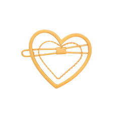 Golden Heart Barrette in Gold: New!