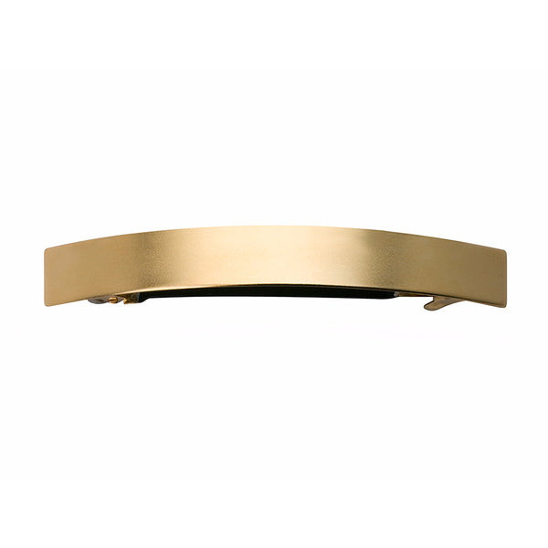 French Curved Barrette Gold Matte