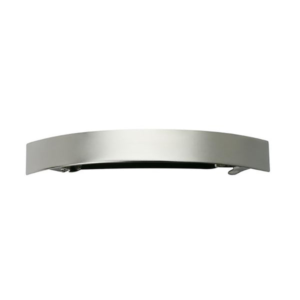 French Curved Barrette Silver Matte