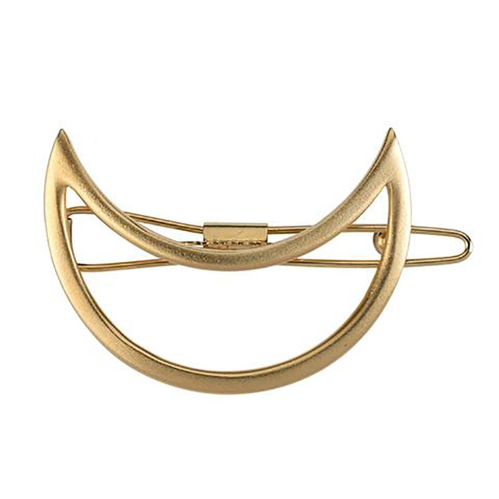 Over the Moon Barrette Gold Matte