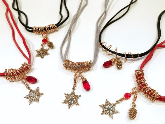 55603ec26 ... Christmas Earrings In Bronze With Pine Cone And Red Swarovski Crystal - Snowbird  Studio ...