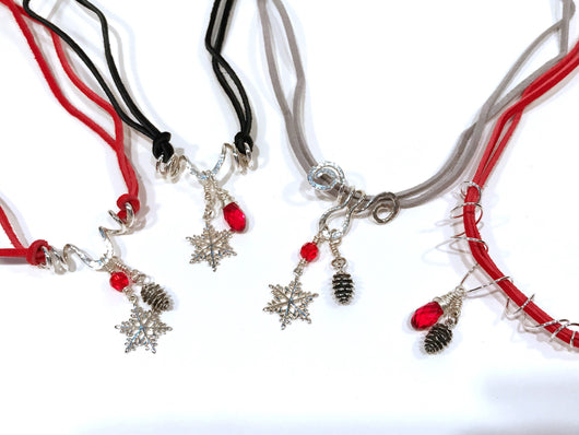 d48c4c715 ... Christmas Earrings In Sterling Silver With Pine Cone Charm And Swarovski  Crystal - Snowbird Studio ...