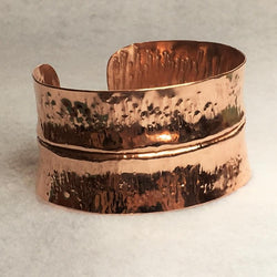 Copper Fold-Formed Cuff Bracelet - Snowbird Studio
