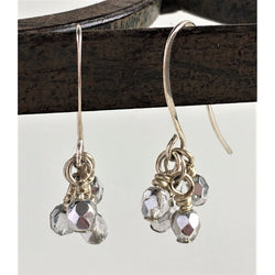 Earrings - Silver and Glass - Snowbird Studio