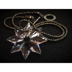 Snowflake Necklace in Swarovski Crystal - Snowbird Studio