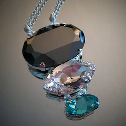 Statement Necklace in Swarovski Crystal - 3 Tiers - Snowbird Studio