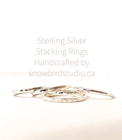Sterling Silver Stacking Rings - Snowbird Studio