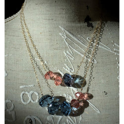 Swarovski Crystal Rondelle Necklace, Bracelet, and Earring Set in Gold-Gold-filled-Snowbird Studio-Snowbird Studio