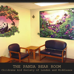 London Children's Hospital Panda Room Wall Decals