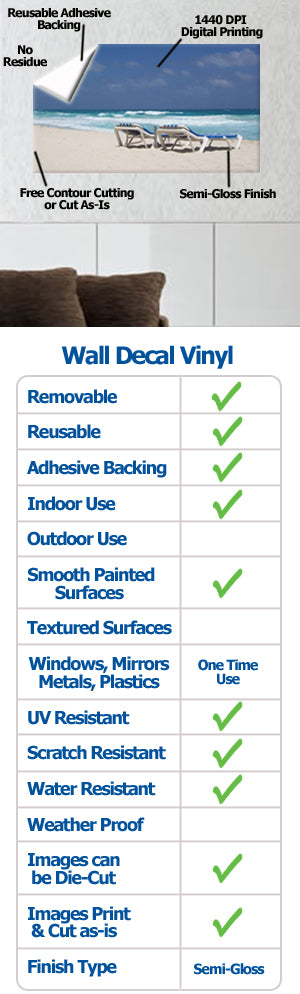 Wallhogs Wall Decal Vinyl Features