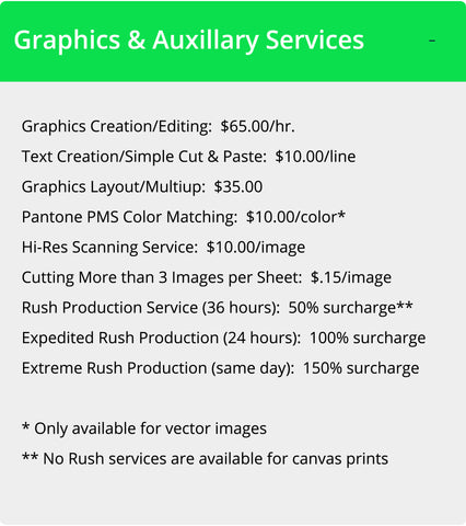 Wallhogs Auxillary Services Pricing