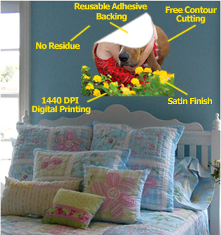 Wallhogs Reusable Wall Decor Fabric Features & Benefits