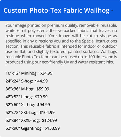 Wallhogs Photo-Tex Polyester Fabric Pricing