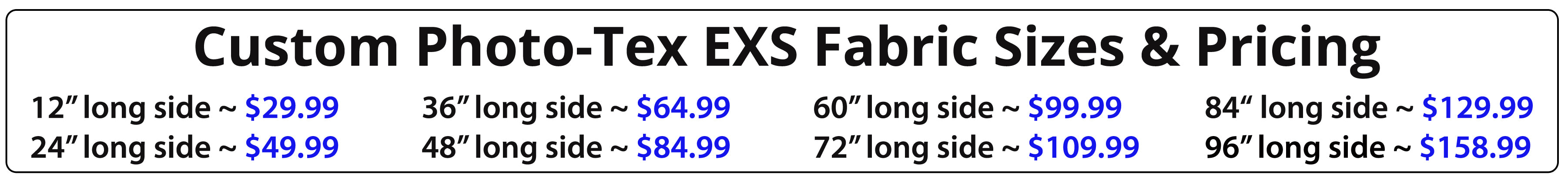 Wallhogs Custom Photo-Tex EXS Pricing