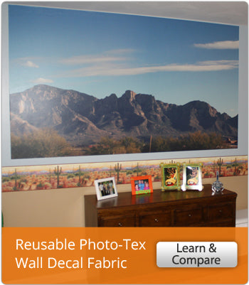 Learn More About Wallhogs Reusable Photo-Tex Wall Decal Fabric