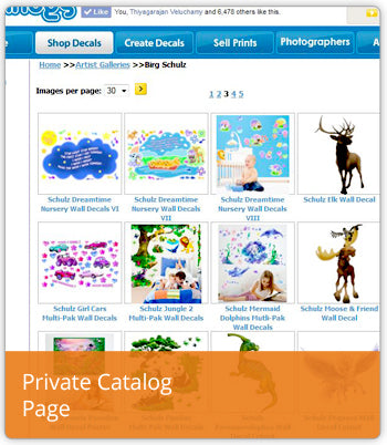 Learn About Wallhogs Private Catalog Page Program