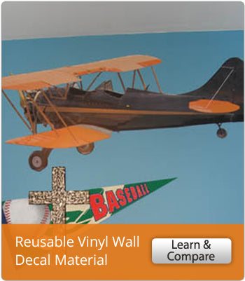 Learn About Wallhogs Reusable Vinyl Wall Decal Material