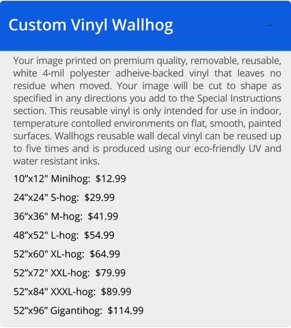 Wallhogs Reusable Wall Decal Vinyl Pricing