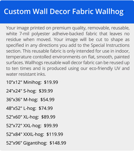 Wallhogs Wall Decor Polyester Fabric Pricing