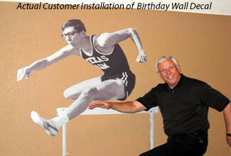 Customer Installed Wall Decal for Birthday Present