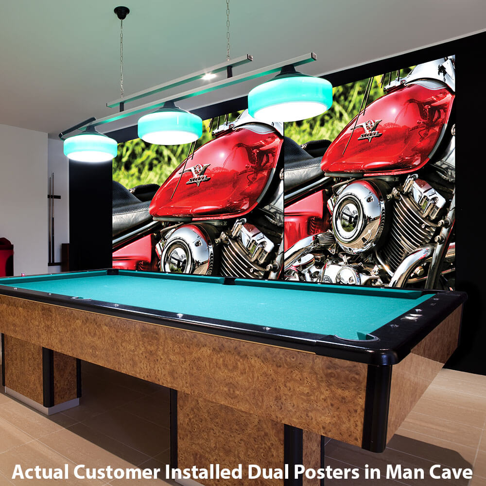 Actual Customer Installed Twin Posters in Man Cave