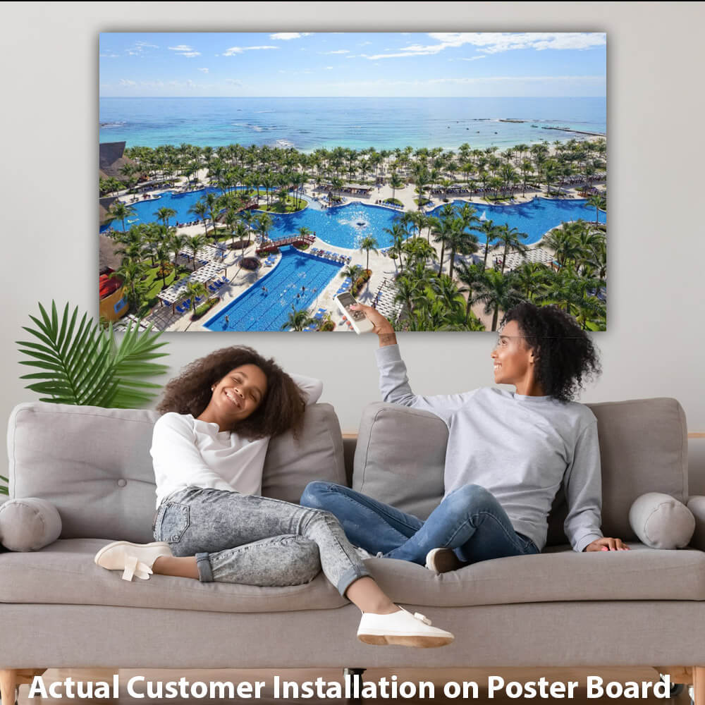 Customer Installation of Poster Using Posterboard