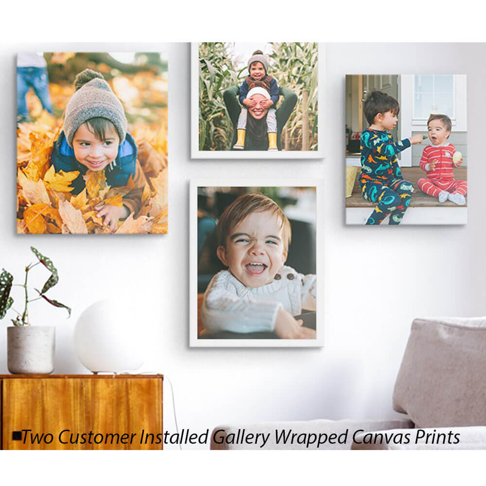 Two Customer Installed Gallery Wrapped Canvas Prints