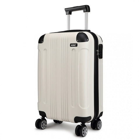 "Sculptured Horizontal Cabin Luggage - 20"" for sale - Woodcock and Cavendish"