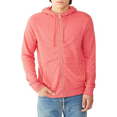 Alternative Rocky Eco-Mock Twist Mock Neck Zip Hoodie
