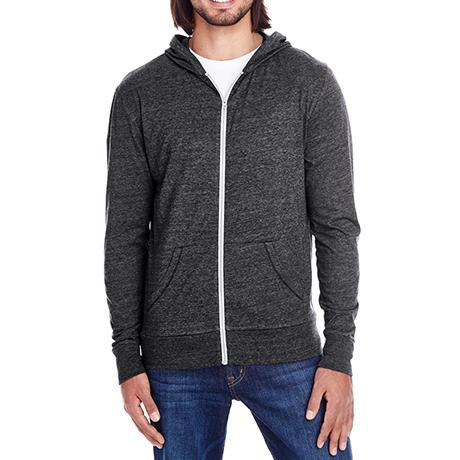 Threadfast Triblend Full-Zip Light Hoodie